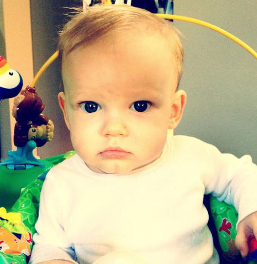 Hilary Duff Tweets Picture Of Luca