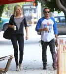Malin Aikerman takes a stroll with her her rocker husband Roberto Zincone in Los Angeles, CA on October 5th, 2012. The two recently announced they are having a baby together.