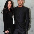 Megan Fox and Brian Austin Green Attend ttend the Emporio Armani runway show in Milan, Italy on September 26, 2010.