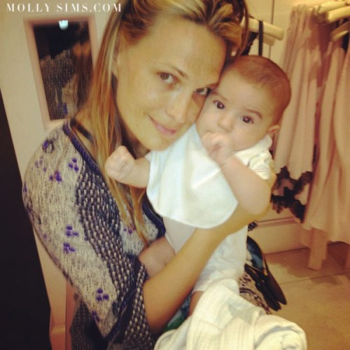 Molly Sims Shoes Off Three Month Old Son Brooks