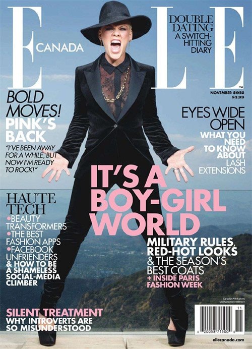 Pink Covers ELLE Canada November 2012