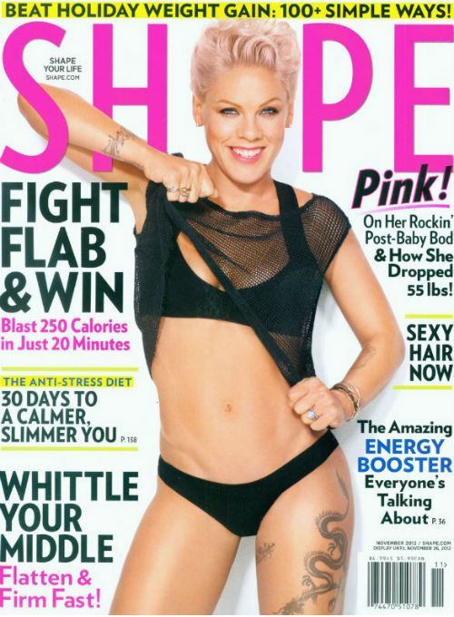 Pink Shows Off 55 Pound Weight Loss