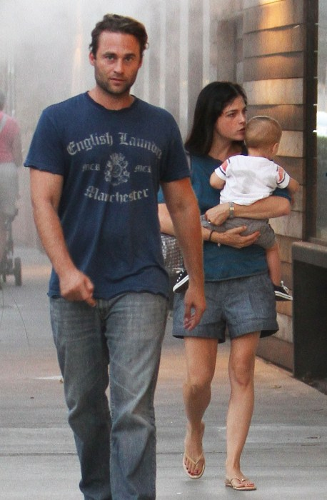 Selma Blair out and about with her baby boy Arthur in Los Angeles, CA on September 29th, 2012.