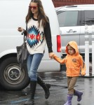 Alessandra Ambrosio Grabs A Snack With Her Daughter