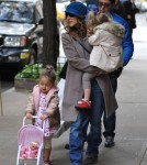 Sarah Jessica Parker & Family Take A Stroll Through New York