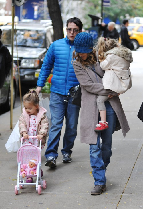 Sarah Jessica Parker and Matthew Broderick Take A Walk With The Girls