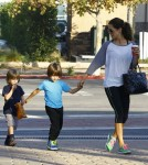 Brooke Burke Running Errands With Her Family