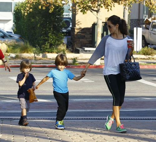 DWTS Host Brooke Burke Running Errands With Her Family