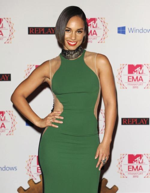 Alicia Keys at The 2012 MTV Europe Music Awards - Arrivals