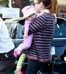 Alyson Hannigan Takes Her Daughters To Breakfast