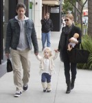 Amy Adams And Family Leaving Nate N' Al's