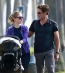Semi-Exclusive... Anna Paquin & Stephen Moyer Take Their Twins For A Stroll