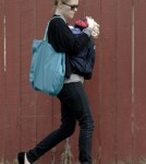 Anna Paquin And One Of Her Twins Out For A Walk