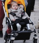 Exclusive... Beckham Kids Go For A Stroll In London
