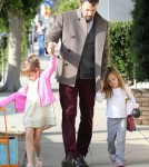 Ben Affleck Takes His Daughters To The Dentist
