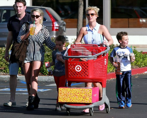 Britney Spears' Target Day With Family