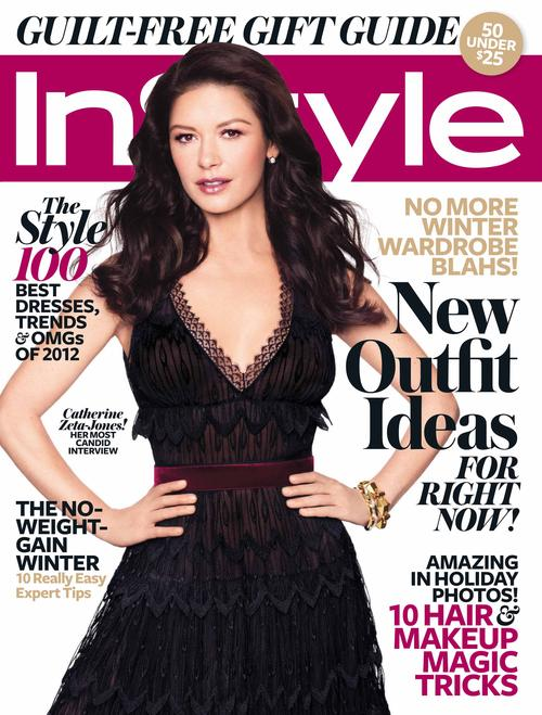 Catherine Zeta Jones Covers InStyle Magzine