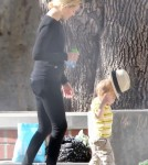 Exclusive... Elizabeth Banks Takes Son Felix To The Park