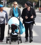 Semi-Exclusive... Elizabeth Berkley Stops By The Farmer's Market With Her Family