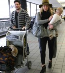 Hilary Duff and Family Depart LAX