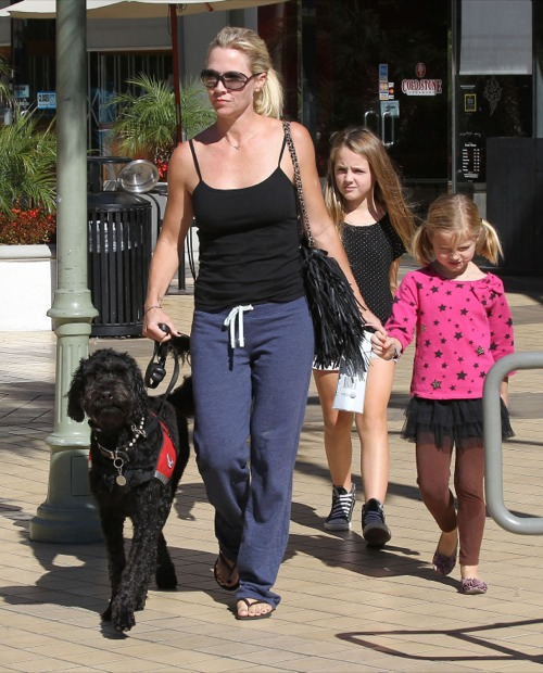 Jennie Garth Hits The Dog Run With Lola & Fiona