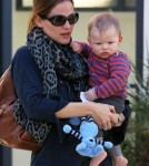 Semi-Exclusive... Jennifer Garner Takes Samuel To See The Doctor