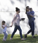 Exclusive... Jennifer Garner Takes A Break With Samuel & Seraphina