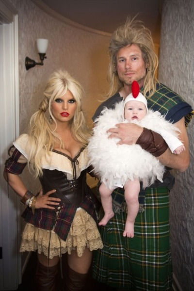 Jessica Simpson Family Halloween Portrait