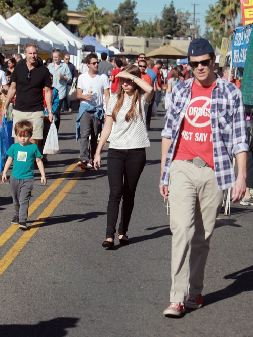 Johnny Knoxville Takes His Kids To The Farmers Market