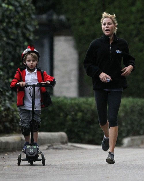 Julie Bowen Enjoys An Active Day With Her Son