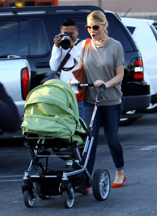 Family Fun Day for Katherine Heigl, Hubby Josh and New Baby Adalaide!