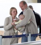 Kelsey Grammer & Family Arriving On A Flight At LAX