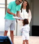 Kourtney Kardashian and Family Film Poolside in Miami