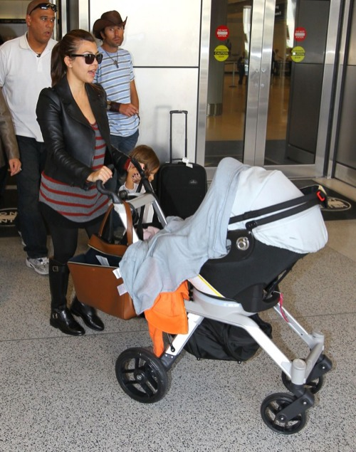 Kourtney Kardashian & Family Touch Down
