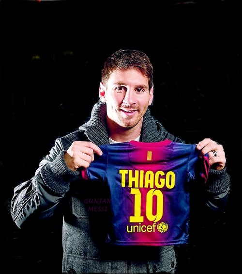 A star is born: Lionel Messi is now the proud father of Thiago, a young boy who has bigger boots to fill than any boy who ever existed