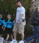 Mark Wahlberg And Rhea At Their Son's Soccer Game