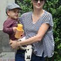 Model And Mom Miranda Kerr And Son Flynn Catch A Flight Out Of New York