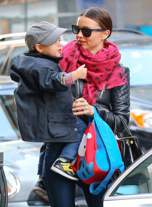 Miranda Kerr Takes Flynn To Work