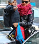 Miranda Kerr And Son Flynn Head To An Office Building