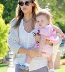 Jessica Alba takes Haven and Honor visit a friend's house, Santa Monica, CA
