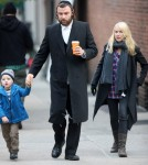 Naomi Watts & Her Son Samuel Visit Liev Schreiber On Set