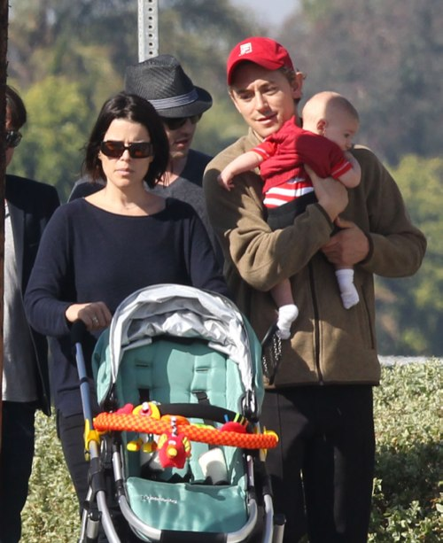 Neve Campbell Shows Off Her Baby Son Caspian