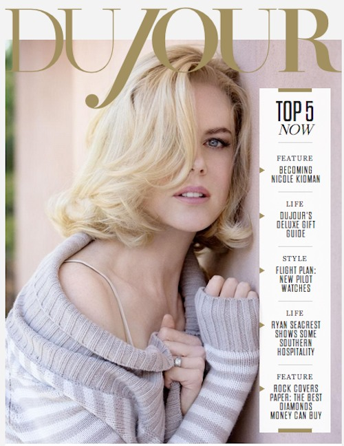 Nicole Kidman Covers Dujour Winter Magazine