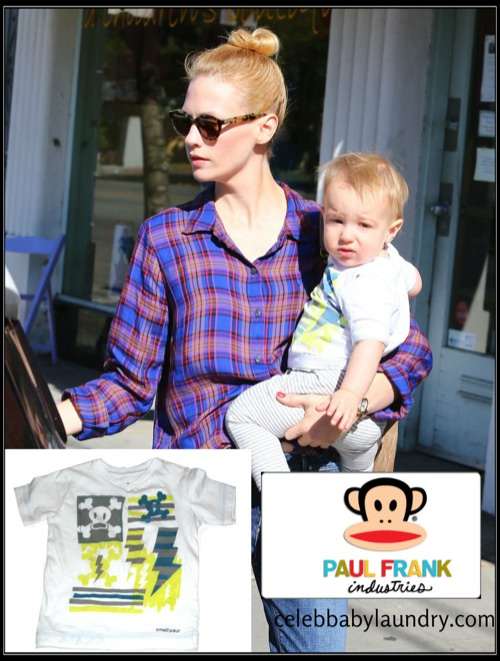 Celeb Baby Style: January Jones - Xander - Paul Frank