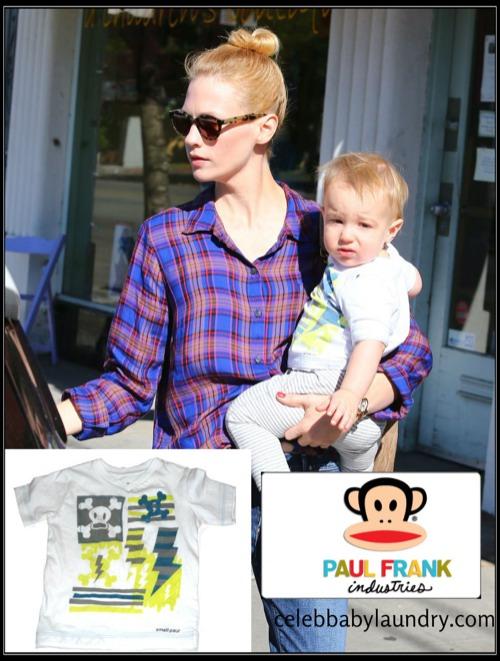 Celeb Baby Style: January Jones - Xander - Paul Frank