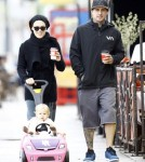 Exclusive... Pink & Carey Hart Take Willow For A Stroll
