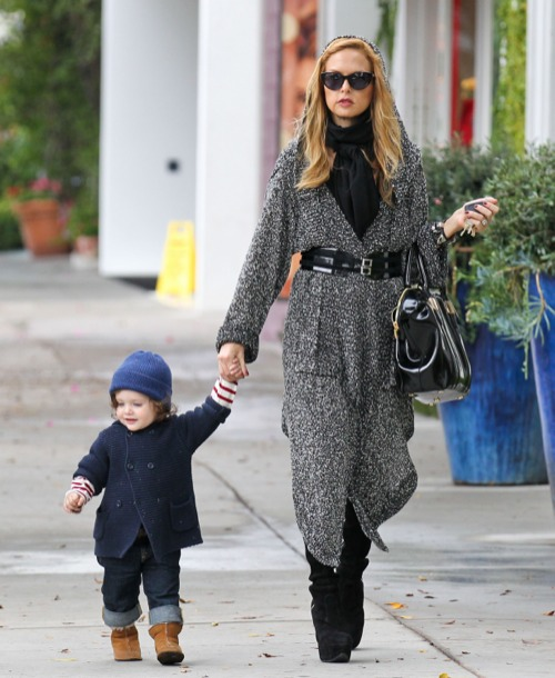 Rachel Zoe Enjoys a Gloomy Day With Skyler