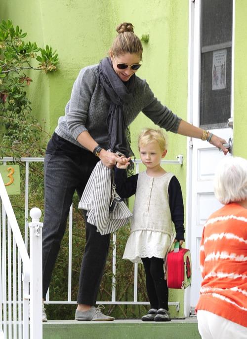 Rebecca Gayheart Picks Up Her Preschooler