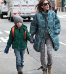 Sarah Jessica Parker Walks Her Kids To School