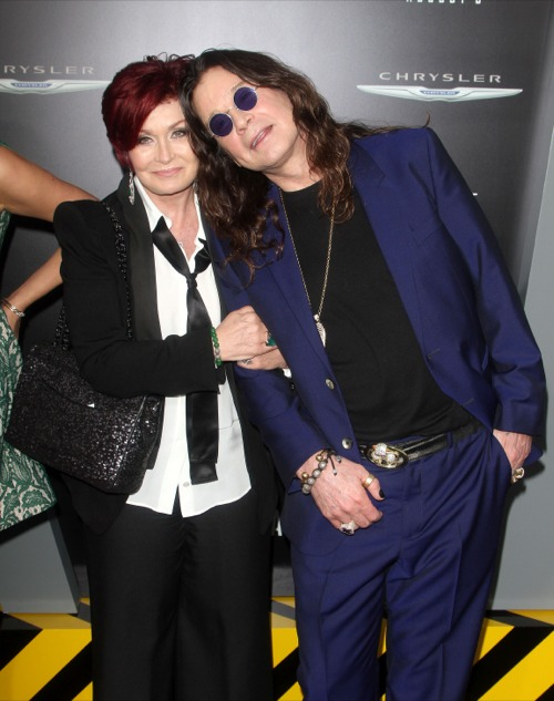 Sharon Osbourne & Ozzy Osbourne at the Total Recall Premieres in Hollywood